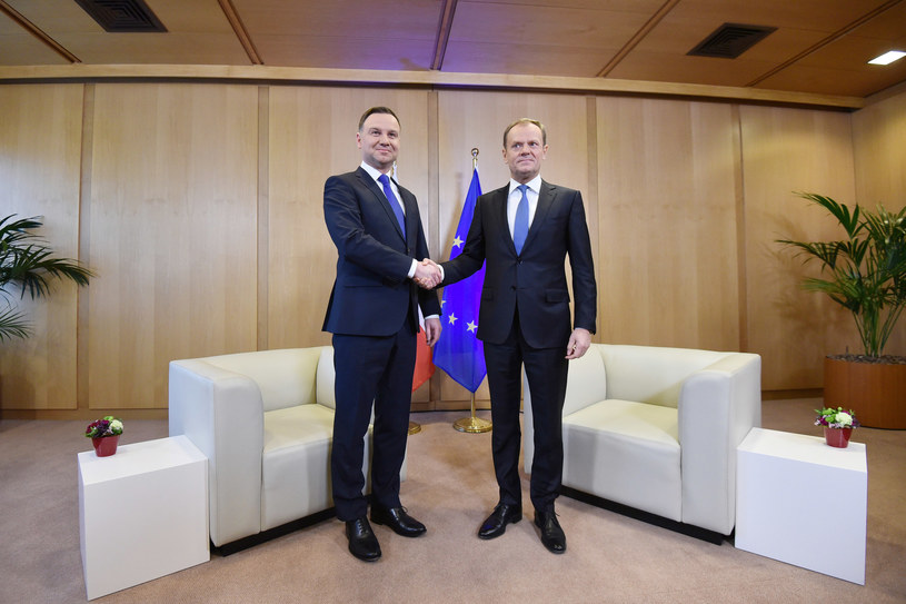 Andrzej Duda i Donald Tusk /Mateusz Jagielski /East News