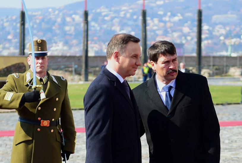 Andrzej Duda i János Áder /AFP