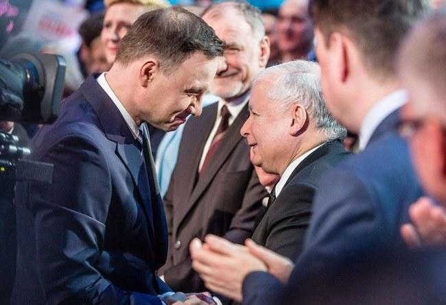 Andrzej Duda i Jarosław Kaczyński /WOJTEK RADWANSKI / AFP /East News
