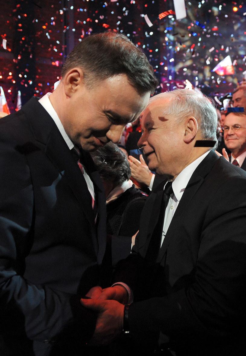 Andrzej Duda i Jarosław Kaczyński /Chelstowski  /Agencja FORUM