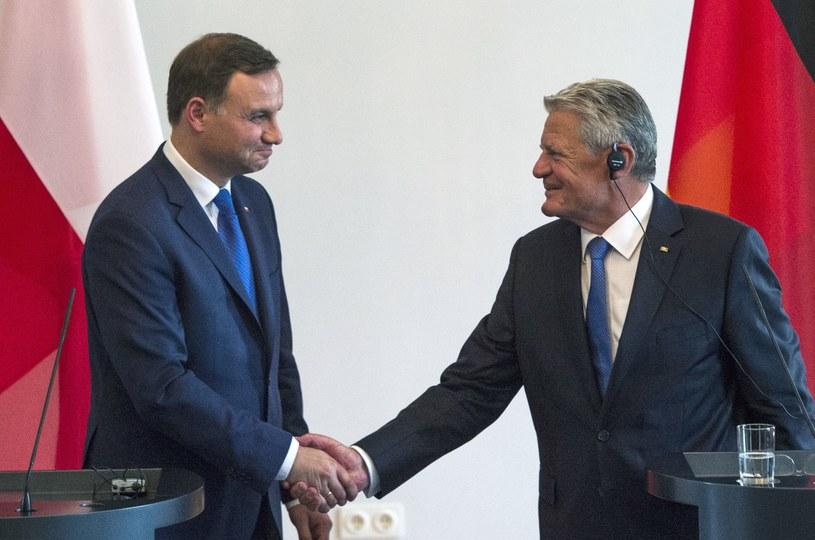 Andrzej Duda i Joachim Gauck /AFP