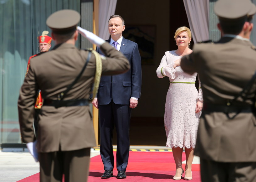 Andrzej Duda i Kolinda Grabar-Kitarović /Kolinda Grabar-Kitarović /PAP