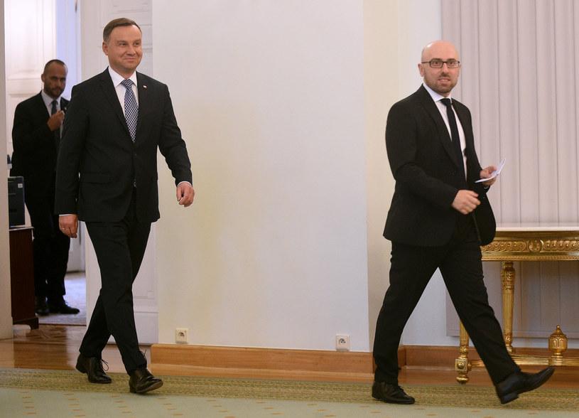 Andrzej Duda i Krzysztof Łapiński /Adam Chelstowski /Agencja FORUM