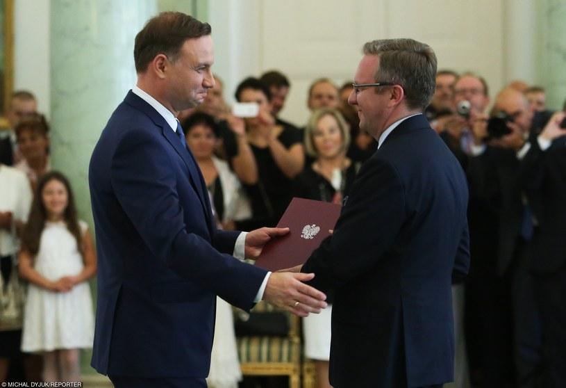 Andrzej Duda i Krzysztof Szczerski /Michał Dyjuk /Reporter
