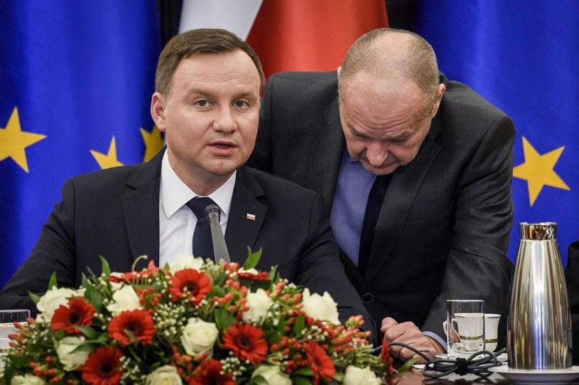 Andrzej Duda i Maciej Łopiński /Jacek Dominski/REPORTER /East News