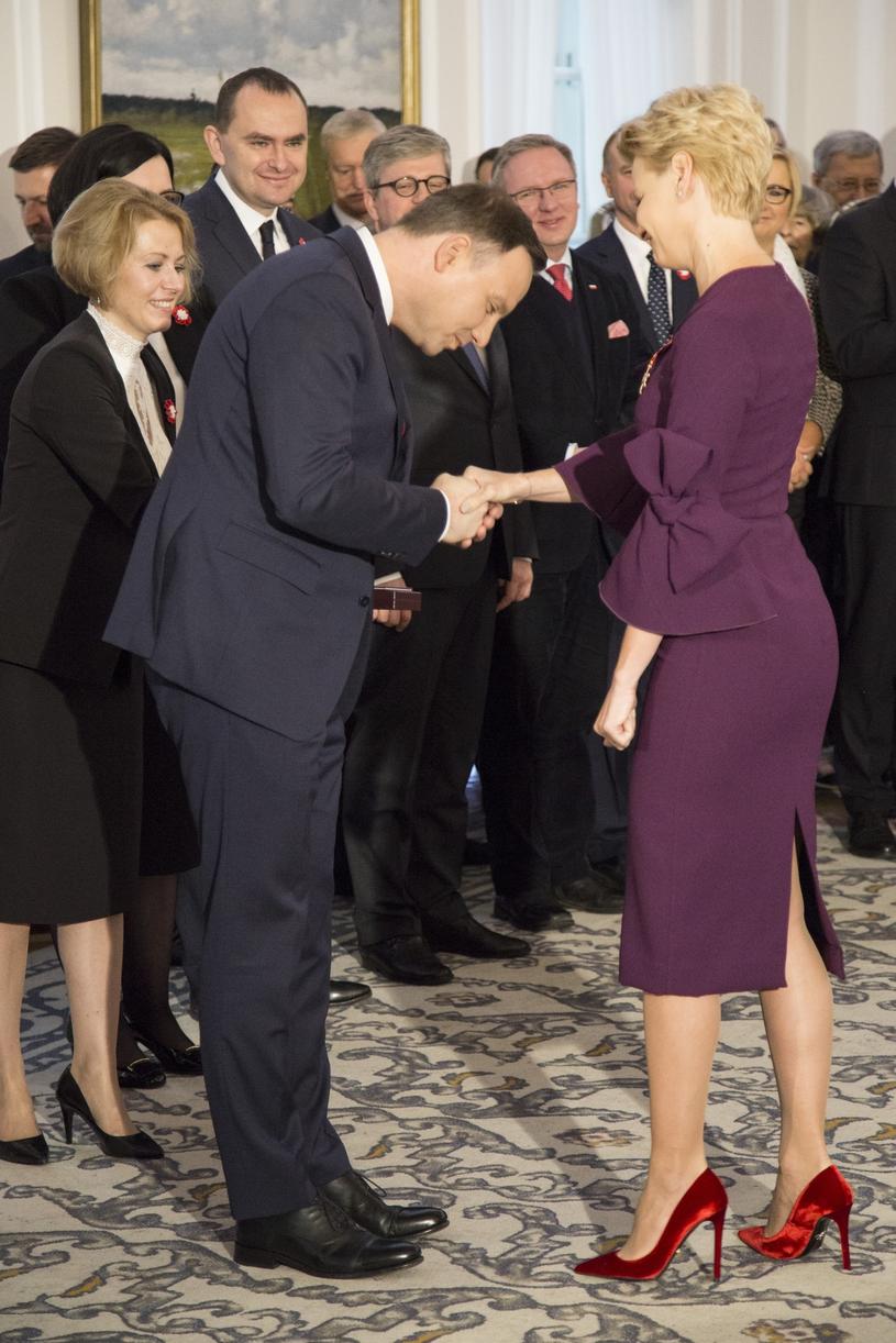 Andrzej Duda i Małgorzata Kożuchowska /Maciej Luczniewski /Reporter