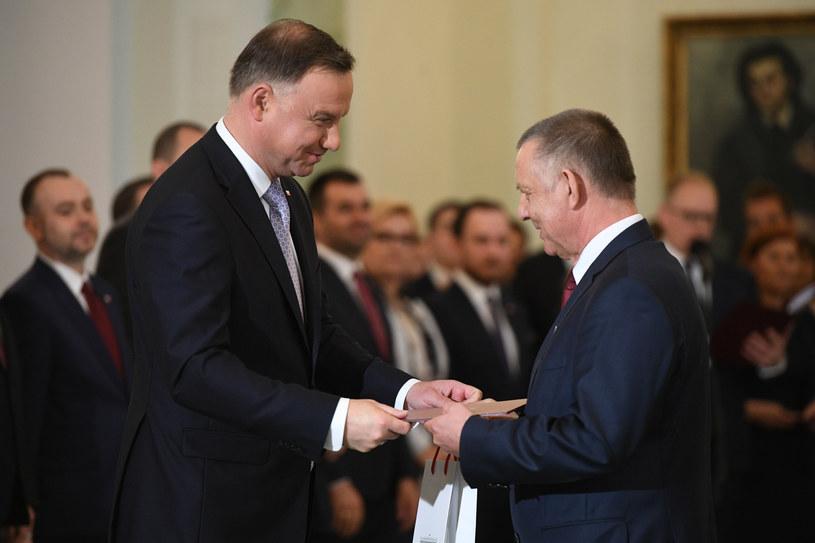 Andrzej Duda i Marian Banaś w czerwcu 2019 r. /Rafał Oleksiewicz /Reporter