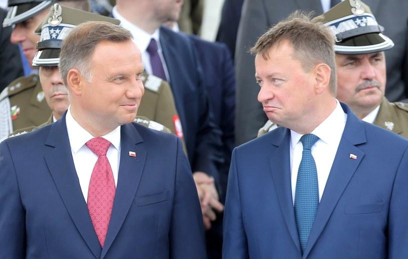 Andrzej Duda i Mariusz Błaszczak /Piotr Molecki /East News
