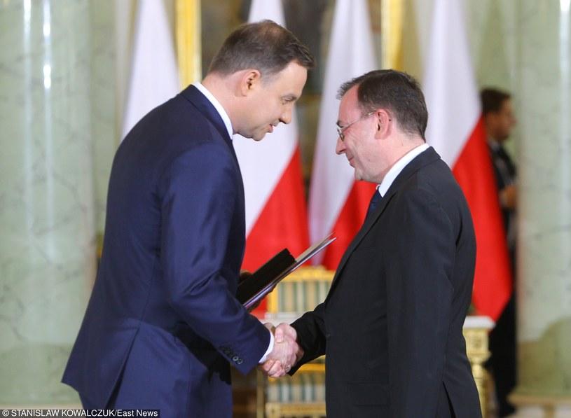 Andrzej Duda i Mariusz Kamiński /STANISLAW KOWALCZUK /East News