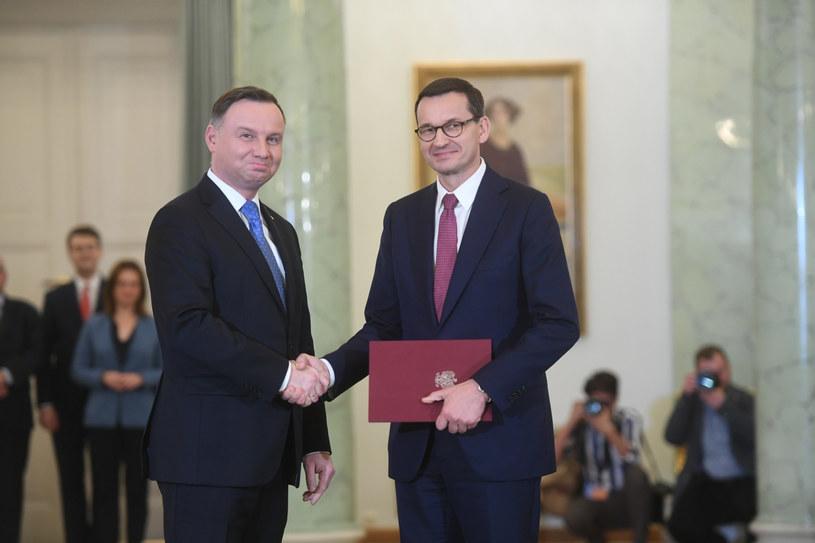 Andrzej Duda i Mateusz Morawiecki /Jacek Domiński /Reporter