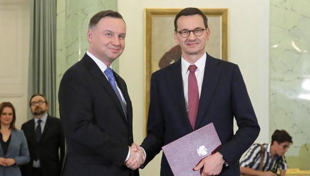 Andrzej Duda i Mateusz Morawiecki /Paweł Supernak /PAP