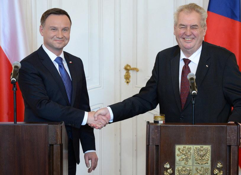 Andrzej Duda i Milosz Zeman /Jacek Turczyk /PAP