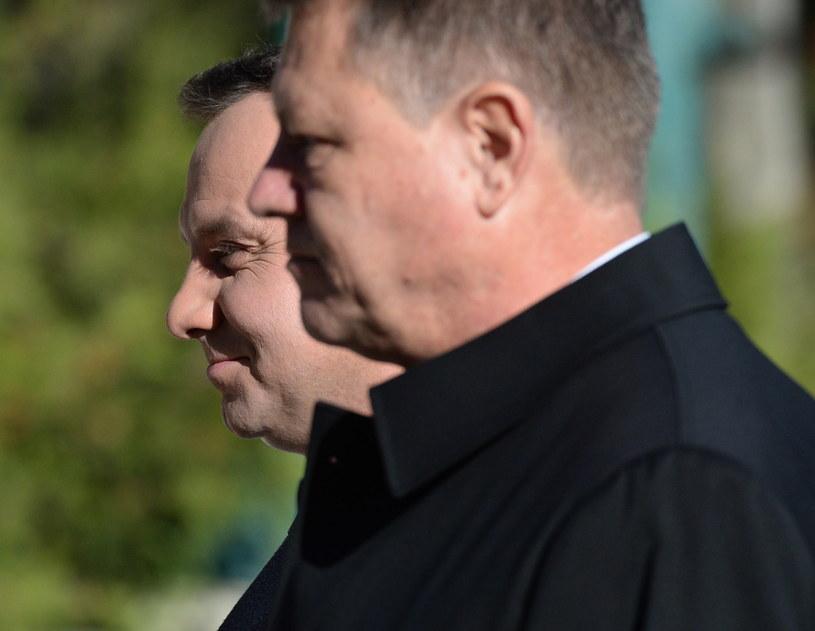 Andrzej Duda i prezydent Rumunii Klaus Werner Iohannis /Jacek Turczyk /PAP