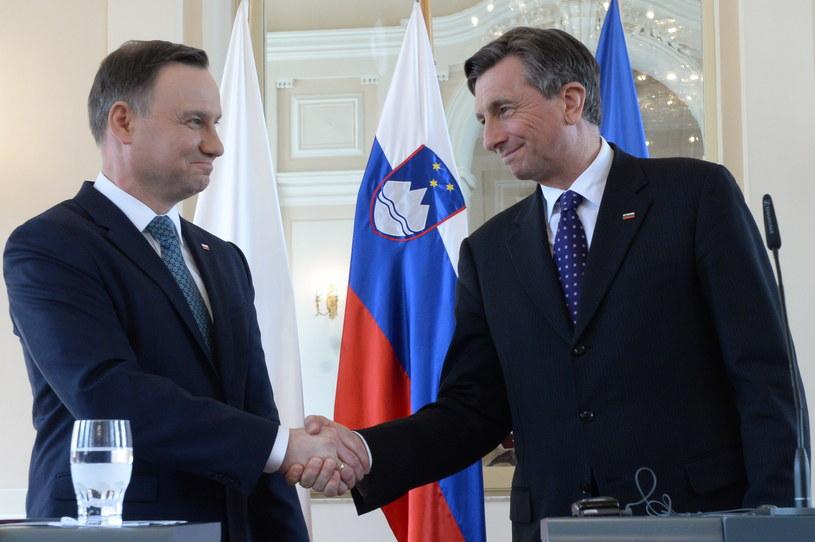 Andrzej Duda i prezydent Słowenii Borut Pahor /Jacek Turczyk /PAP