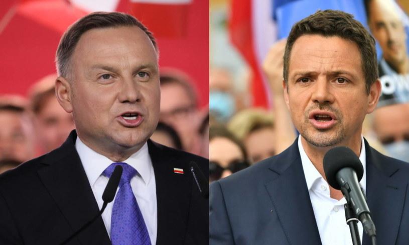 Andrzej Duda i Rafał Trzaskowski; fot: Leszek Szymański, Maciej Kulczyński/PAP /PAP