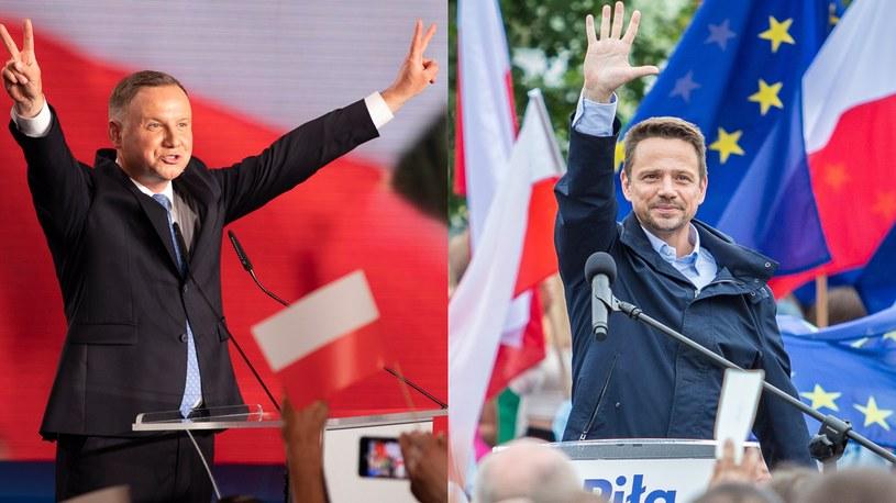 Andrzej Duda i Rafał Trzaskowski, fot. Robert Gardzińskí /Zbigniew Komorowski / Forum /Agencja FORUM