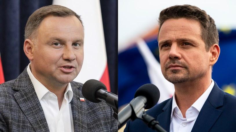 Andrzej Duda i Rafał Trzaskowski spotkają się w drugiej turze wyborów /Andrzej Hulimka / Michal Kość  /Agencja FORUM