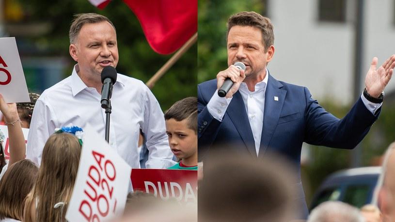 Andrzej Duda i Rafał Trzaskowski /Zbigniew Komorowski/Mateusz Słodkowski/Forum /Agencja FORUM