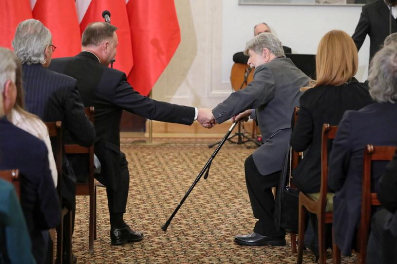 Andrzej Duda i Szewach Weiss 8 stycznia w Pałacu Prezydenckim /PAP