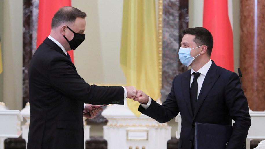 Andrzej Duda i Wołodymyr Zełenski / Leszek Szymański    /PAP