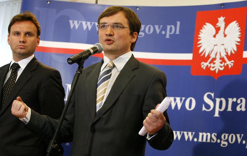 Andrzej Duda i Zbigniew Ziobro w 2007 r. /ot. Jerzy Dudek /Agencja FORUM