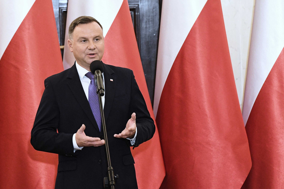 Andrzej Duda: Jeżeli trafi do mnie ustawa likwidująca przesłankę eugeniczną aborcji, to ją podpiszę / Radek Pietruszka   /PAP