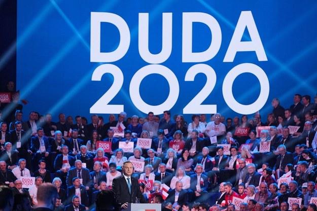 Andrzej Duda na konwencji inaugurującej jego kampanię /Mateusz Marek /PAP