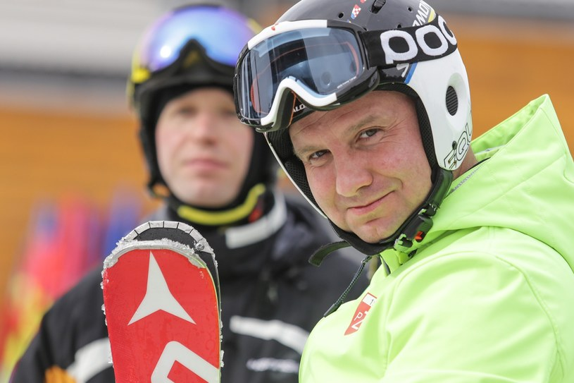 Andrzej Duda na nartach /Dominik Gajda/REPORTER /Reporter
