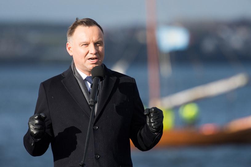 Andrzej Duda na Obchodach 100 lecia zaślubin Polski z morzem w Pucku /Wojciech Strozyk/REPORTER /East News