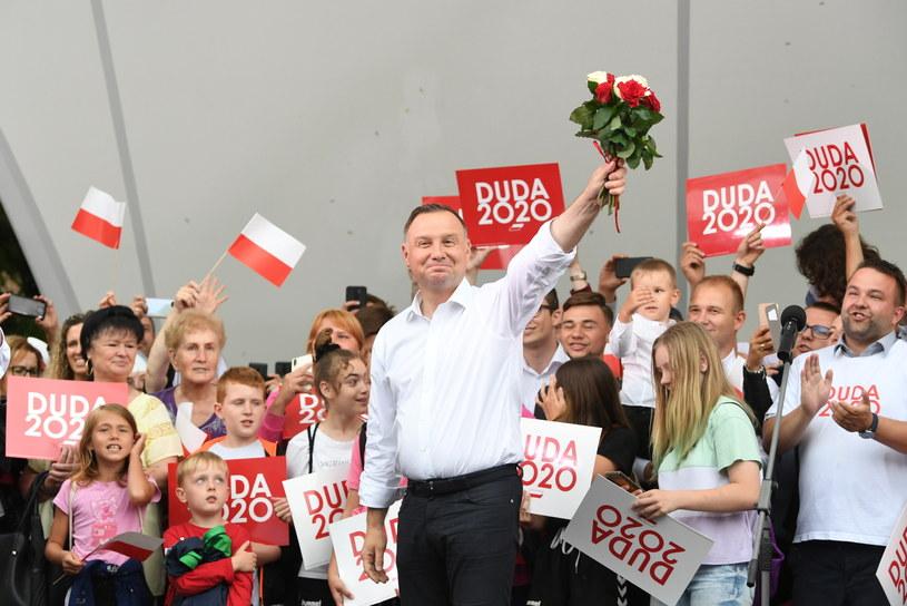 Andrzej Duda na spotkaniu z mieszkańcami Kwidzynia na Pomorzu /Adam Warżawa /PAP/EPA