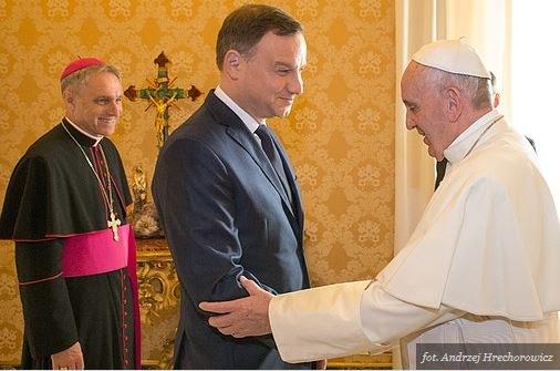 Andrzej Duda na spotkaniu z papieżem Franciszkiem /źródło: Kancelaria Prezydenta RP /