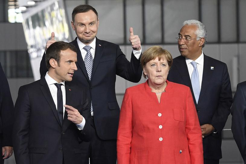 Andrzej Duda na szczycie NATO /AFP