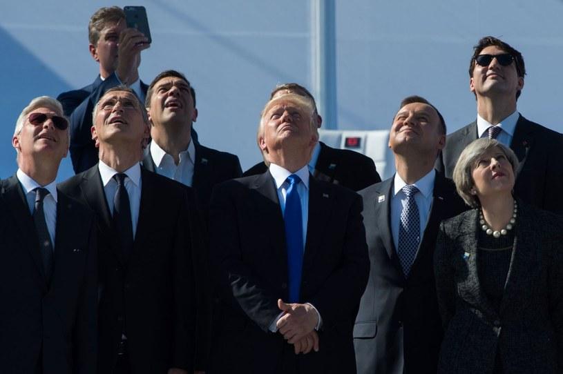 Andrzej Duda obok Donalda Trumpa /AFP