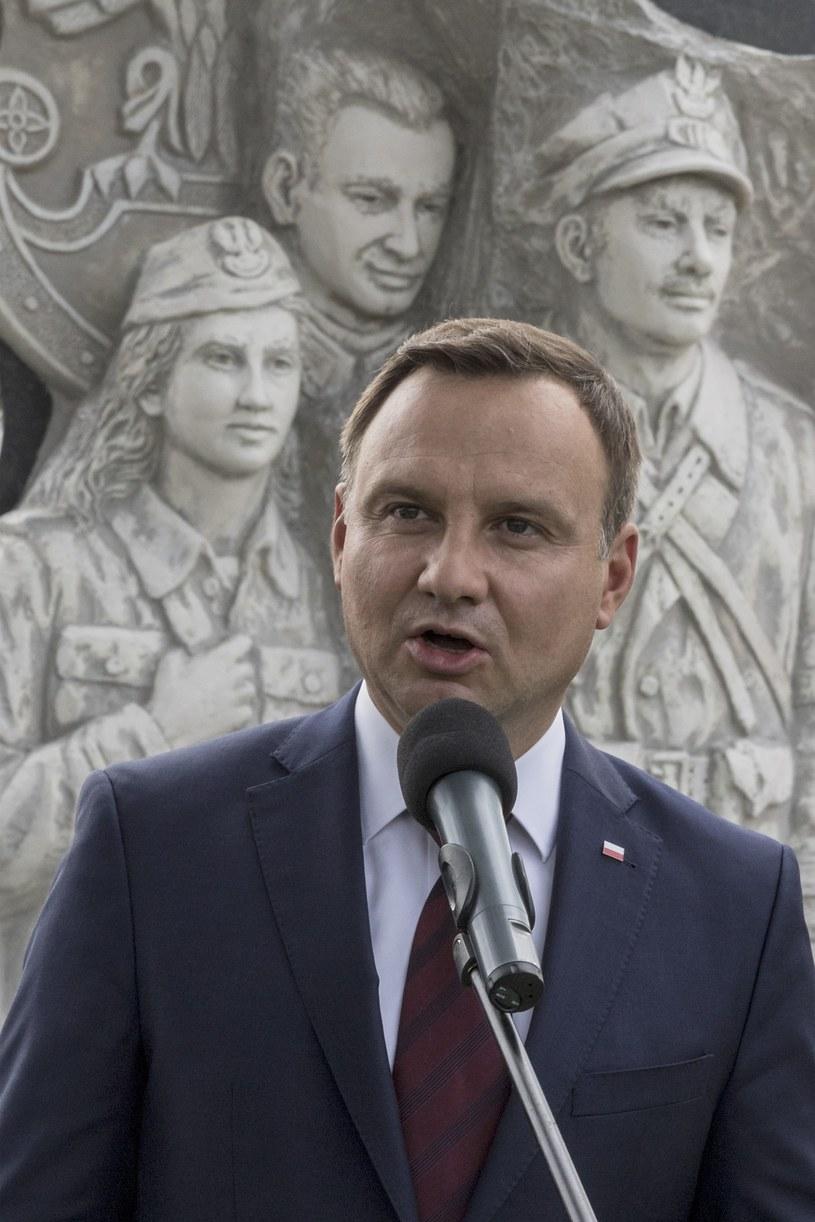 Andrzej Duda odsłonił w amerykańskim Doylestown w Pensylwanii pomnik Żołnierzy Wyklętych /Wojciech Kubik /East News