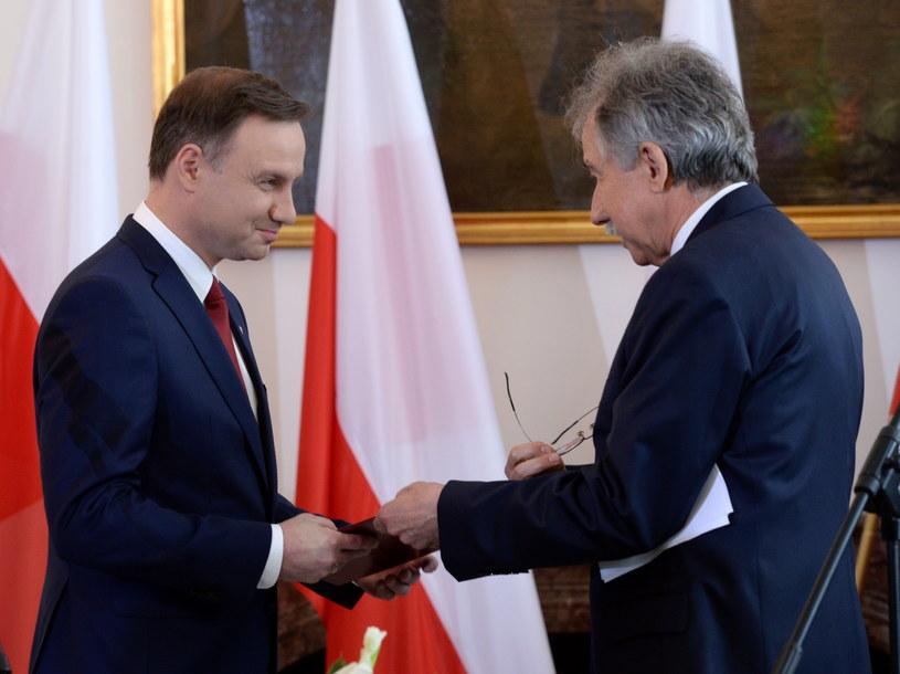 Andrzej Duda otrzymał akt wyboru na prezydenta /Jacek Turczyk /PAP