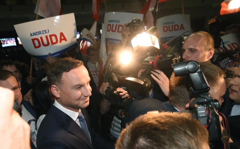 Andrzej Duda po debacie /Radek Pietruszka /PAP