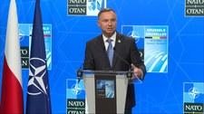 """Andrzej Duda po szczycie NATO: """"Ten komunikat jest jednoznaczny"""""""