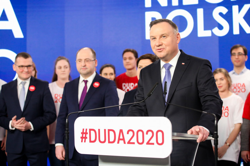 Andrzej Duda podczas prezentacji sztabu wyborczego /fot. Andrzej Iwanczuk /Reporter