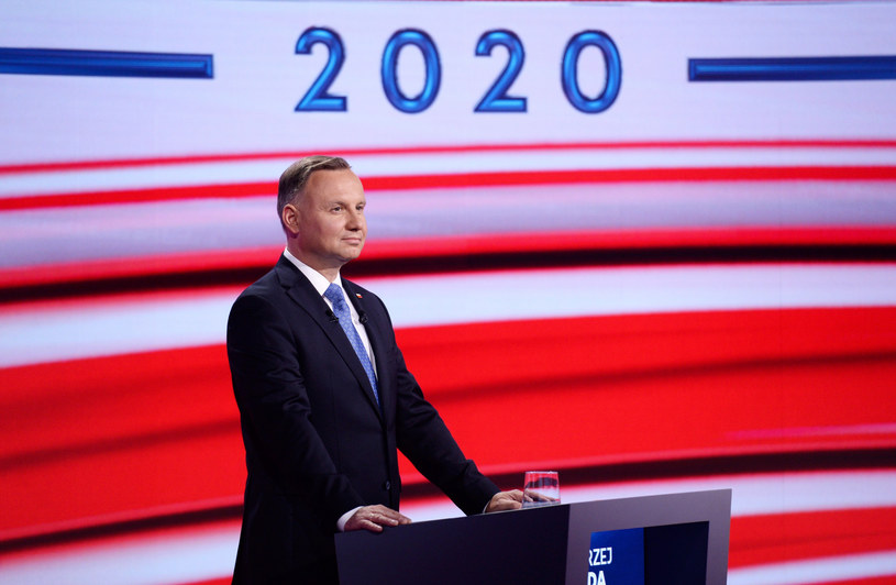 Andrzej Duda podczas programu TVP w Końskich /Jan Bogacz/TVP /East News