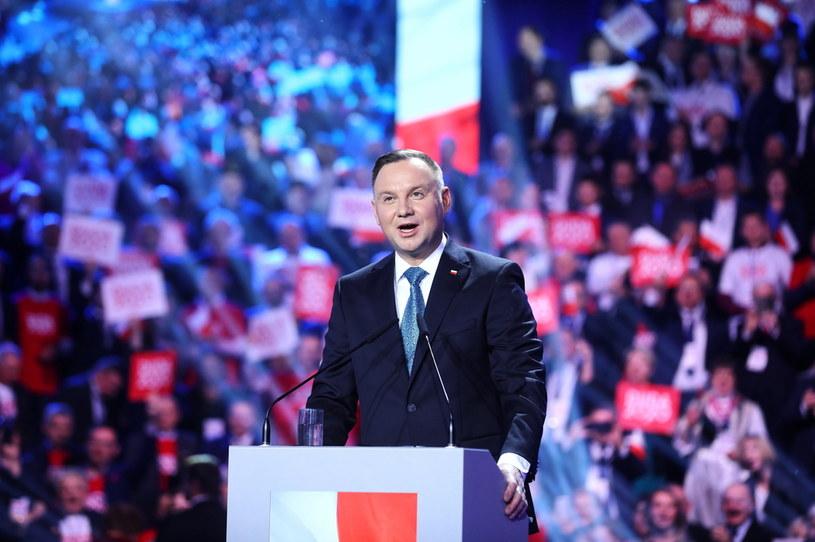 Andrzej Duda podczas sobotniej konwencji /Rafał Guz /PAP