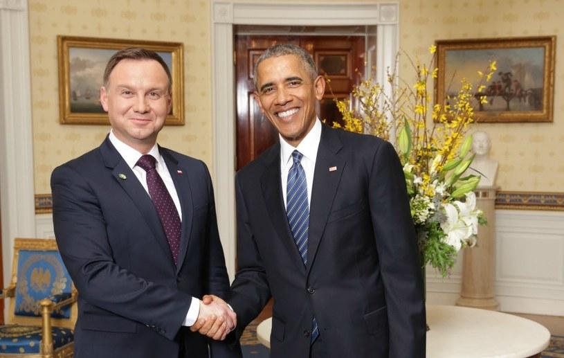 Andrzej Duda podczas spotkania z Barackiem Obamą /Abaca /East News