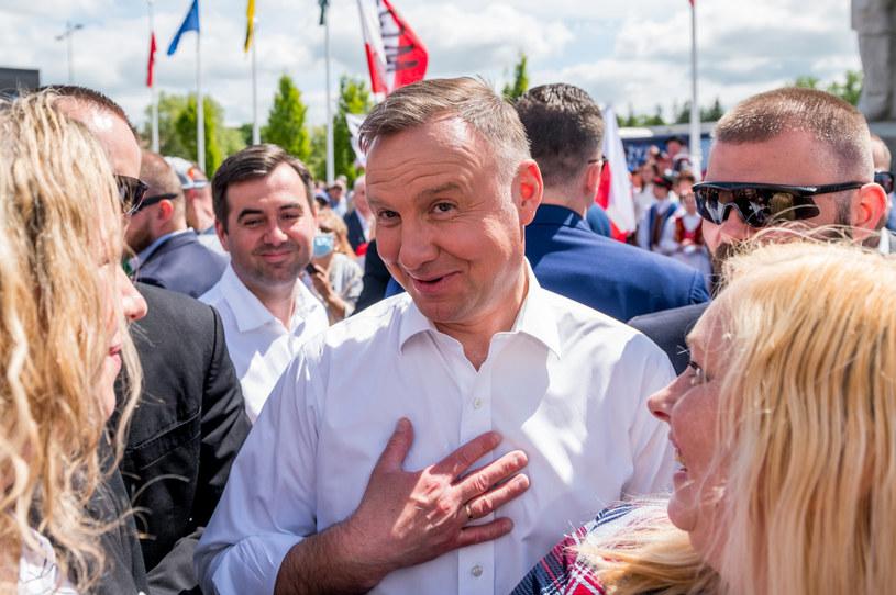 Andrzej Duda podczas spotkania z wyborcami w Kościerzynie /Marcin Bruniecki /Reporter