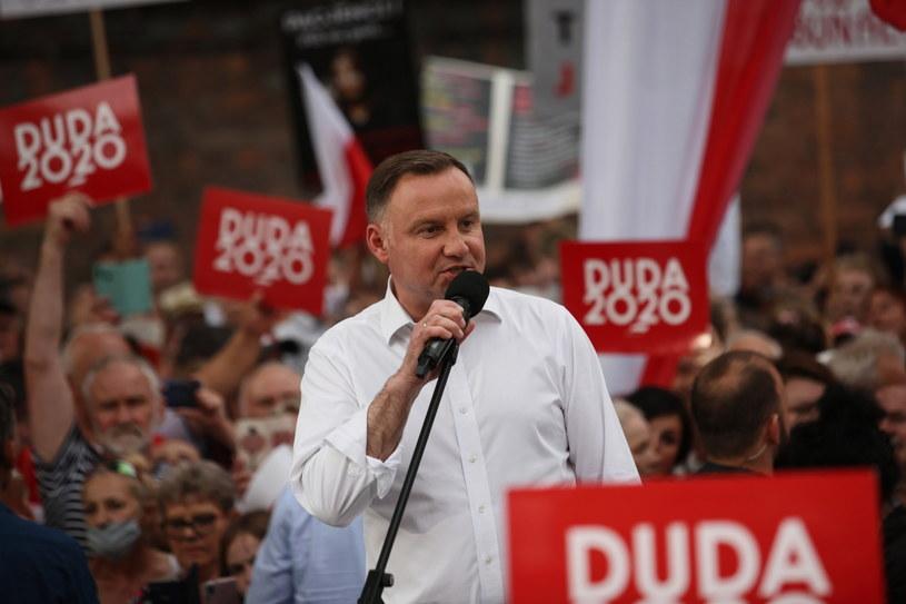 Andrzej Duda podczas spotkania z wyborcami w Nowej Soli / Lech Muszyński    /PAP