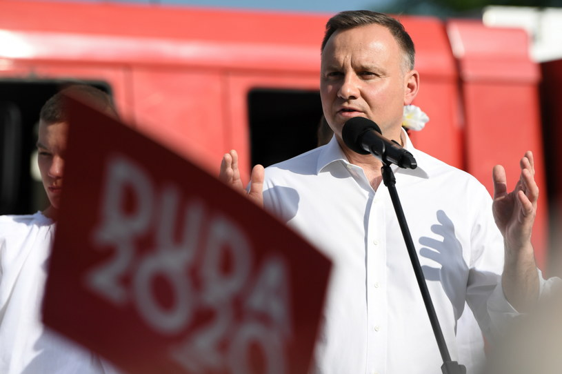 Andrzej Duda podczas spotkania z wyborcami /Dariusz Delmanowicz    /PAP