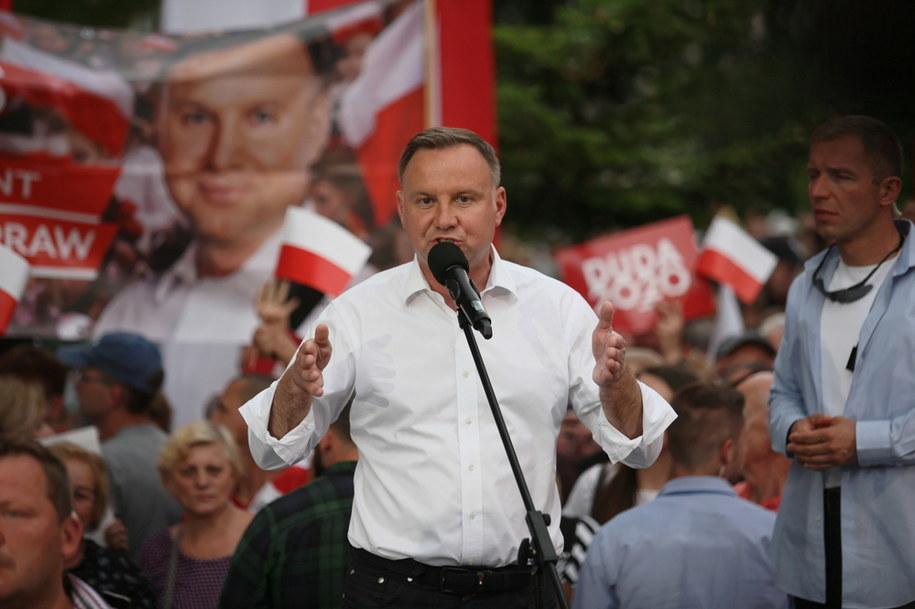 Andrzej Duda podczas spotkania z wyborcami / Lech Muszyński    /PAP