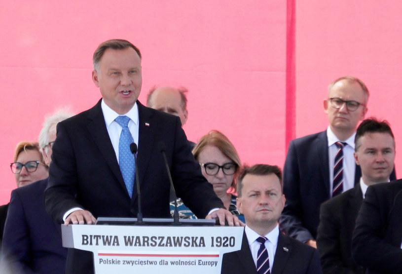 Andrzej Duda podczas uroczystości /Piotr Molecki /East News