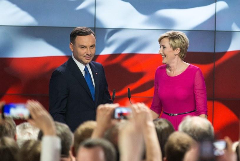 Andrzej Duda podczas wieczoru wyborczego /Andrzej Iwańczuk /Reporter