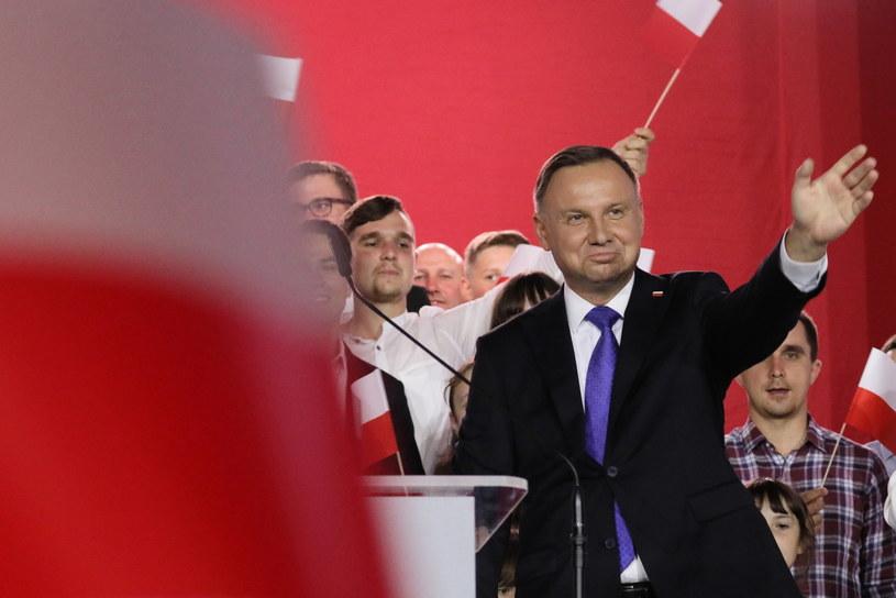 Andrzej Duda podczas wieczoru wyborczego /Leszek Szymański /PAP