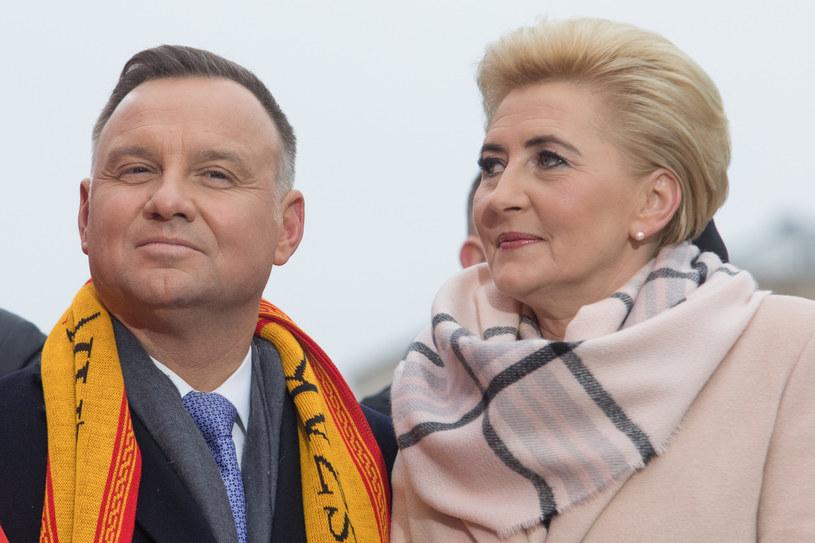 Andrzej Duda pokazał zdjęcie szczęśliwej żony /Tomasz Jastrzębowski /Reporter
