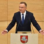 Andrzej Duda: Polska i Litwa są obrońcami Europy przed tyranią